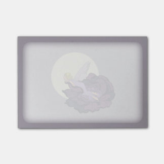 Moon Gazing Purple Flower Fairy Evening Sky Post-it Notes