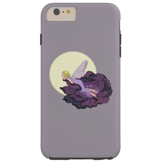 Moon Gazing Purple Flower Fairy Evening Sky Tough iPhone 6 Plus Case