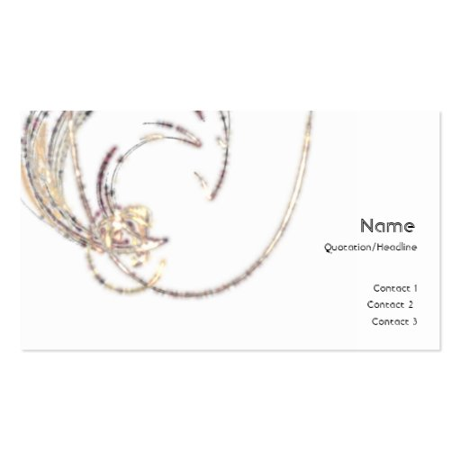 Moon Glitter Profile Card Business Cards