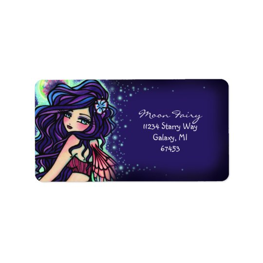 Moon Glow Fairy Fantasy Art Address Label