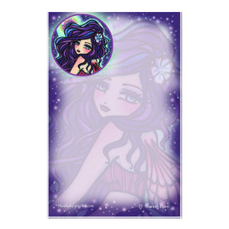 Moon Glow Fairy Fantasy Art by Hannah Lynn Stationery