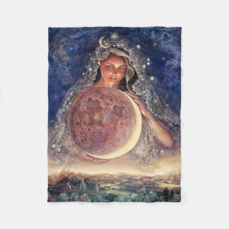 Moon Goddess Fleece Throw