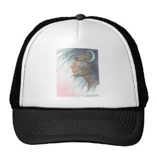 moon goddess mesh hats