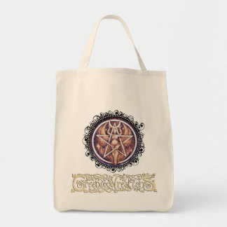 Moon Goddess Pentacle - Grocery Tote with Logo