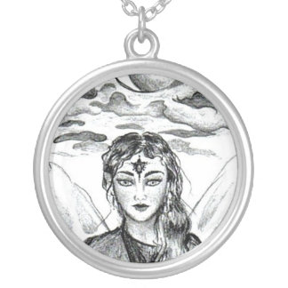 Moon Goddess Silver Plated Necklace