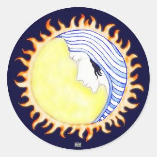 Moon Goddess Round Sticker