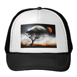 Moon gothic mesh hats