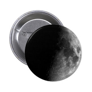Moon, Half Moon 6 Cm Round Badge