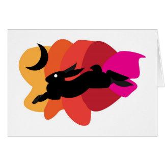 Moon Hare Blank Card