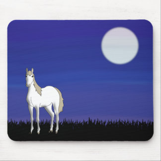 moon horse mouse pad
