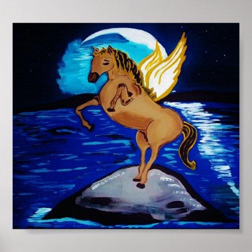 Moon Horse Print