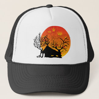 moon&house trucker hat