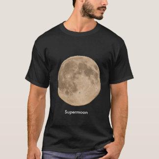 Moon Image for men's black t-shirt