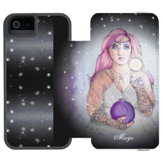Moon in a Bottle Witch Wiccan Pagan Incipio Watson™ iPhone 5 Wallet Case