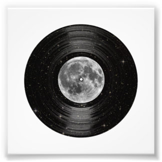 Moon In Space Vinyl LP Record Art Photo