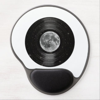 Moon In Space Vinyl LP Record Gel Mouse Pad