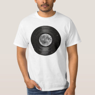Moon In Space Vinyl LP Record T Shirt