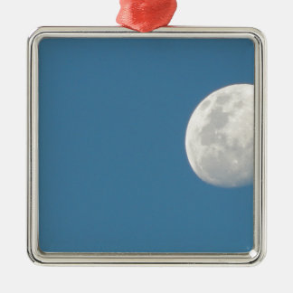 Moon in the day Silver-Colored square decoration
