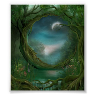 Moon in  the Trees Poster