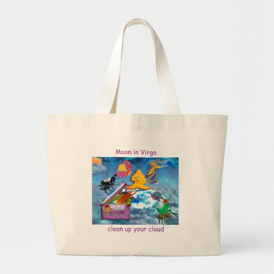 Moon in Virgo Large Tote Bag