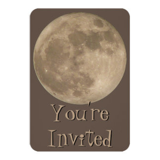 Moon Invitations Personalized Full Moon RSVP Cards