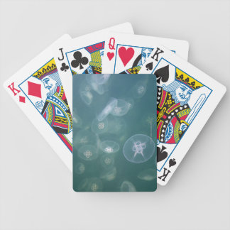 Moon jellyfish bicycle playing cards