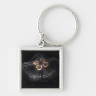 Moon Jellyfish Outline Key Ring