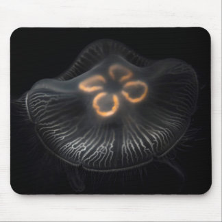 Moon Jellyfish Outline Mouse Mat
