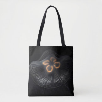 Moon Jellyfish Outline Tote Bag
