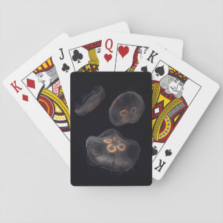Moon Jellyfish Swimming Playing Cards