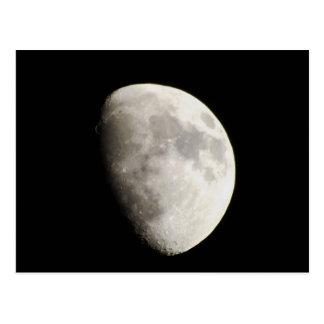 Moon June 18, 2013 Waxing Gibbous. Postcard