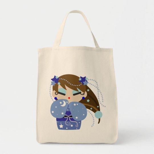 Moon Kokeshi Tote Bag