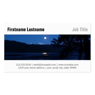 Moon Lake at Night Pack Of Standard Business Cards