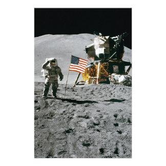moon landing apollo 15 lunar module nasa 1971 custom stationery