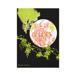 Moon Leaves Art Canvas Canvas Print