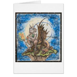 moon lit dreadlock faun card