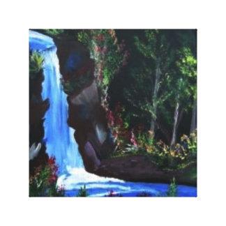 Moon Lit Falls Canvas Print