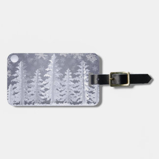 Moon lit Winter landscape Bag Tag