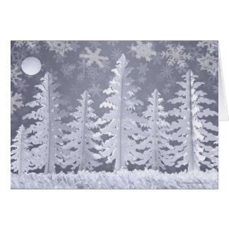 Moon lit Winter landscape Card