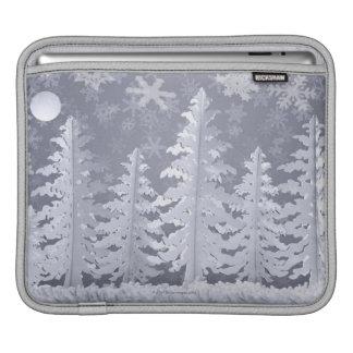 Moon lit Winter landscape iPad Sleeve