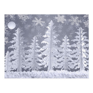 Moon lit Winter landscape Postcard