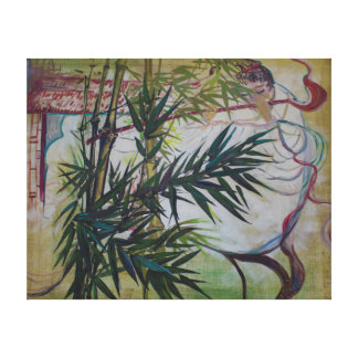 Moon Lovers With Flute Gallery Wrapped Canvas
