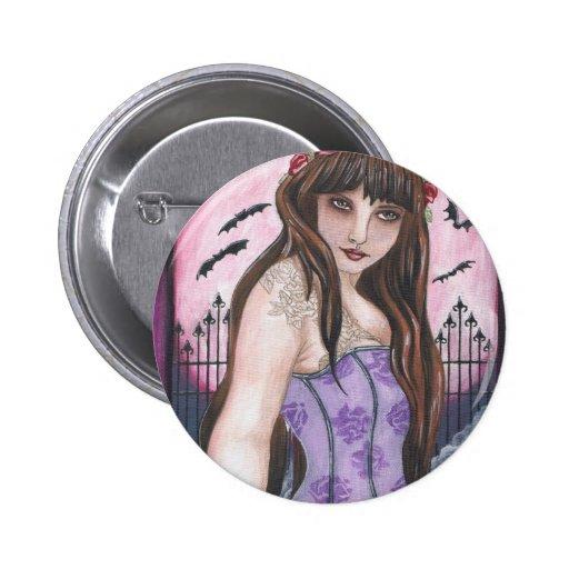 Moon Maiden I - Dark gothic fantasy art Buttons