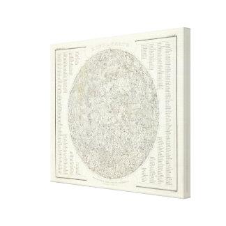 Moon Map Canvas Print