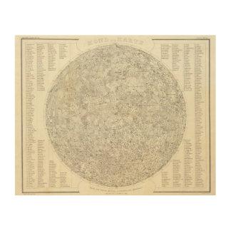 Moon Map Wood Wall Art
