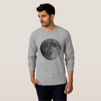 Moon Men's American Apparel Long Sleeve T-Shirt