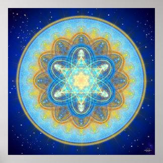 Moon Merkaba Mandala Poster