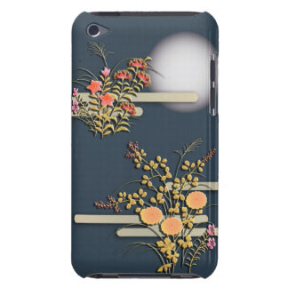 Moon, mist and flowers iPod touch case