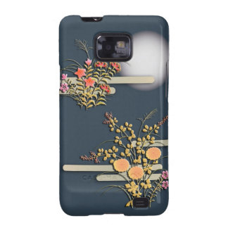 Moon mist and flowers samsung galaxy cases