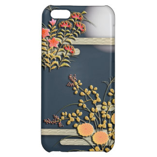 Moon mist and flowers elegant japanese pattern iPhone 5C covers